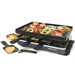 Swissmar 8-Person Classic Black Raclette Reversible Cast Iron Party Grill