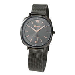 Geneva Platinum Womens Gray Strap Watch-1528