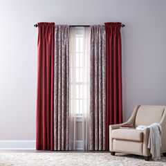Royal Velvet Plaza Thermal, Florence, & Crushed Voile Sheer Rod-Pocket Curtain Panels