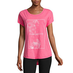 Made For Life Short Sleeve Crew Neck T-Shirt-Womens Petites