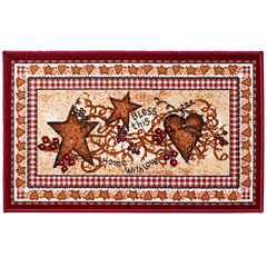 Avanti® Hearts & Stars Rectangular Bath Rug