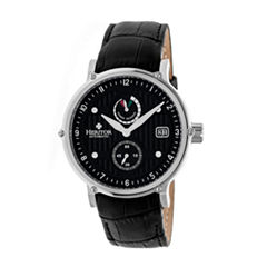 Heritor Leopold Mens Black Strap Watch-Herhr4704