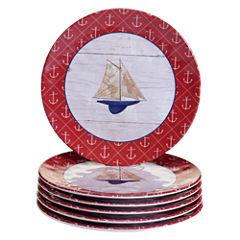 Certified International Nautique 6-pc. Salad Plate