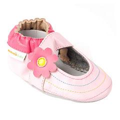 Momo Baby Rainbow Toes Mary Jane Girls Crib Shoes-Baby
