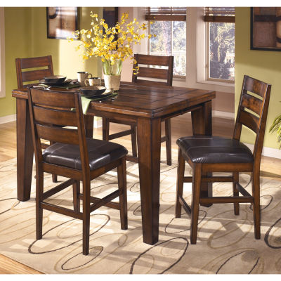 signature design by ashley larchmont counter height 5pc rectangular dining set