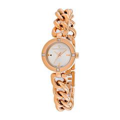 Christian Van Sant Sultry Womens Rose-Tone Bracelet Watch