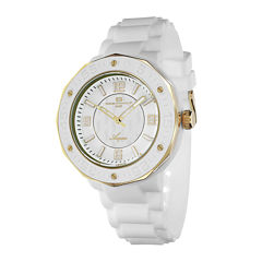 Oceanaut Acqua Womens White Rubber Bracelet Watch