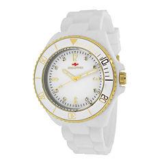 Seapro Sea Bubble Ladies White Silicone Strap Bracelet Watch