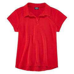 Izod Exclusive Short Sleeve Performance Polo Shirt - Big Kid Girls