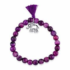 Bridge Jewelry Womens Purple Stretch Bracelet