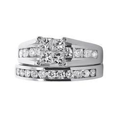 LIMITED QUANTITIES 1½ CT. T.W. Diamond 14K White Gold Bridal Ring Set