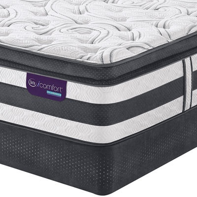serta icomfort hybrid expertise super pillowtop mattress box spring