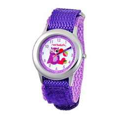 Red Balloon™ Girls' Owl Dial Purple Strap Watch