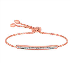 Rhythm and Muse 1/10 CT. T.W. Diamond 14K Rose Gold Over Silver Bracelet