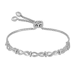 Rhythm and Muse 1/10 CT. T.W. Diamond Sterling Silver Infinity Bracelet