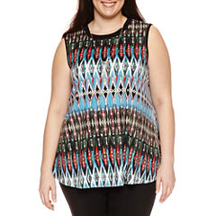 Alyx Knit Swing Tank Top with Necklace-Plus