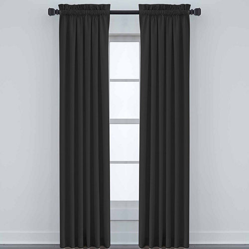 JCPenney Home Made-To-Length Linen Rod-Pocket Unlined Curtain Panel