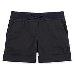 IZOD® Pull-On Stretch Twill Shorts - Preschool Girls 4-6x