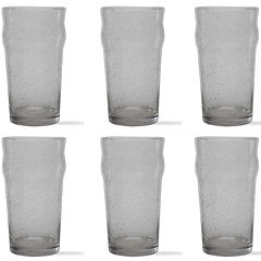 Tag Bubble Glass Set of 6 Tulip Pilsner Glasses