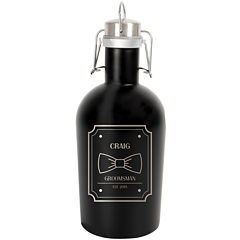 Cathy's Concepts Personalized 64-oz. Black Stainless Steel Groomsman Growler