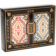 US Playing Card Company KEM Playing Cards - Paisley Red and Blue: Narrow Jumbo