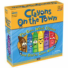 Briarpatch Crayons on the Town Board Game
