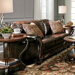Signature Design By Ashley® Vanceton Faux Leather Sofa
