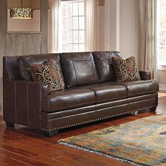 Signature Design By Ashley® Corvan Faux Leather Sofa