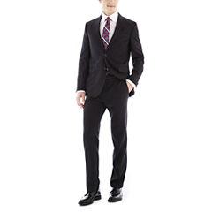 JF J. Ferrar Black Nailhead Slim-Fit Suit Separates