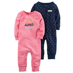 Carter's 2-Pk. Long Sleeve Jumpsuit - Baby