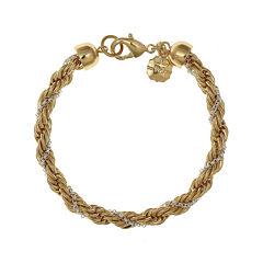 Monet® Gold-Tone and Silver-Tone Twist Flex Chain Bracelet