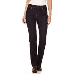 St. John's Bay® Secretly Slender Straight-Leg Jeans