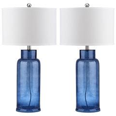 Geoff Bottle Glass Table Lamp- Set of 2