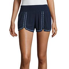 Rewash Woven Embroidered Soft Shorts-Juniors