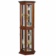 Home Meridian Mirrored Curio Cabinet