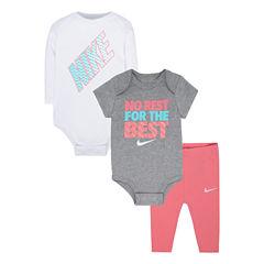 Nike 3-pc. Bodysuit Set-Baby Girls
