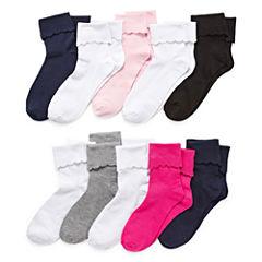 Total Girl 10-pc. Turncuff Socks