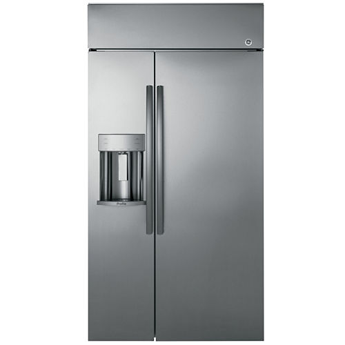 GE Profile™ Series 48 Built-In Side-by-Side Refrigerator with Dispenser