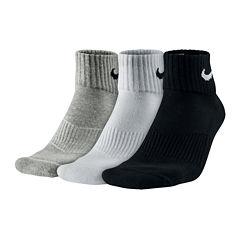 Nike® 3-pk. Performance Cotton Quarter Socks