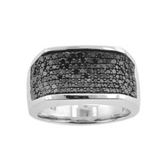 Mens 1 CT. T.W. Color-Enhanced Black Diamond Ring