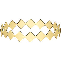 DOWNTOWN BY LANA Gold-Tone Diamond-Shaped Bangle