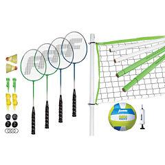 Franklin Sports Intermediate Badminton & Volleyball Set