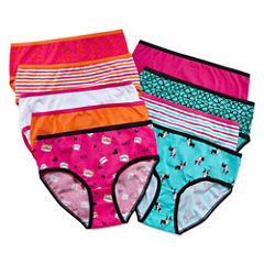 Total Girl® 9-pk. Cat Dog Cotton Briefs - Girls