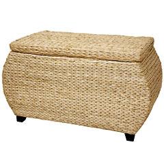 Oriental Furniture Rush Grass Storage Trunk