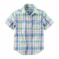 Carter's Ps Girl Top Short Sleeve Button-Front Shirt Boys
