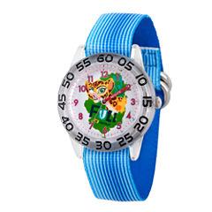 Disney Collection Lion Guard Girls Blue Plastic Nylon Strap Watch