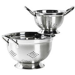 Basic Essentials® 2-pc. Stainless Steel Colander Set
