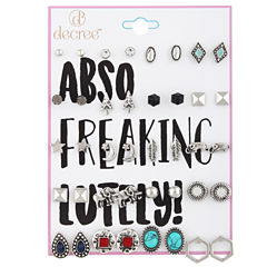 Decree 18-pc. Blue Earring Sets