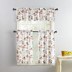 Mackintosh Brew 3-pc. Rod-Pocket Kitchen Curtain Set