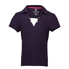 U.S. Polo Assn. Short Sleeve Polo Shirt - Preschool Girls